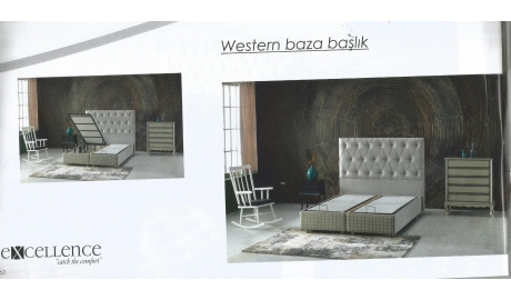 90*190 BAZA VE BAŞLIK SET WESTERN